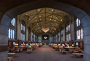 The Reading Room at Harper Memorial Library on the University of Chicago Alumni Weekend 2014.