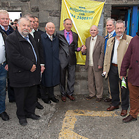 Unveiling a plaque to commemerate the 100 year anniversary of Clare winning the all Ireland hurling Final