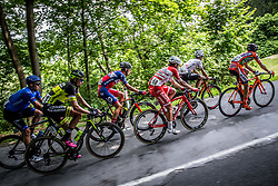 Anton Vorobyev (RUS) of Gazprom-Rusvelo, Tomas Buchacek (CZE) of Elkov-Author Cycling team, Gorazd Per (SLO) of KK Adria Mobil, Andrea Vendrame (ITA) of Androni-Sidermec-Bottecchia, Enrico Salvador (ITA) of Tirol Cycling Team, Ivan Santaromita (ITA) of Nippo-Vini Fantini during Stage 2 of 24th Tour of Slovenia 2017 / Tour de Slovenie from Ljubljana to Ljubljana (169,9 km) cycling race on June 16, 2017 in Slovenia. Photo by Vid Ponikvar / Sportida