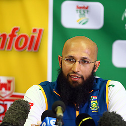 Durban South Africa - December 24, Hashim Amla (capt) during the South African training session at Sahara Stadium Kingsmead, 24 December 2015. (Photo by Steve Haag) images for social media must have consent from Steve Haag