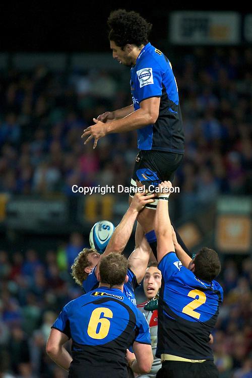 Sam Wykes drops the ball from a restart gather. Western Force v Canterbury Crusaders. Super 15 Rugby Match. Perth, Western Australia, nib Stadium. Saturday 30th April 2011. Photo: Daniel Carson|PHOTOSPORT