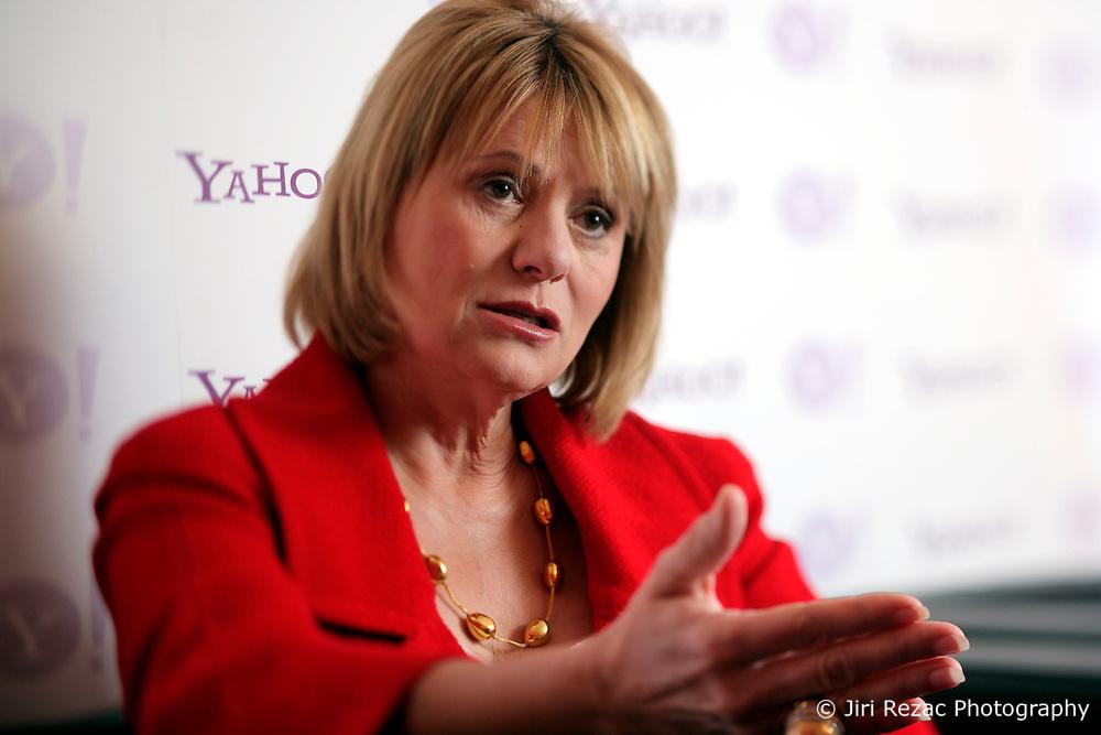 UK ENGLAND LONDON 28APR10 - Carol Bartz, CEO of Yahoo during a press briefing at the Tate Modern in central London. ..jre/Photo by Jiri Rezac..© Jiri Rezac 2010