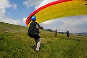 Paragliding in Yorkshire Dales near Ingleton