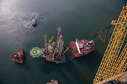 Hercules offshore jackup oil drilling rig - Ingleside, Texas.
