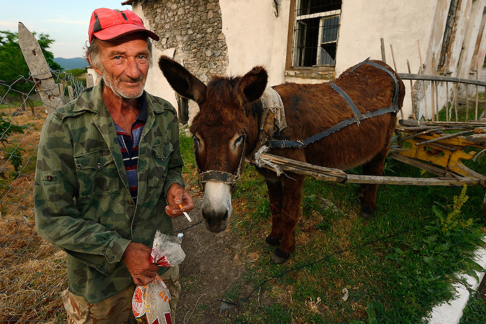 Villagers in the Arda river valley, Eastern Rhodope mountains, Bulgaria