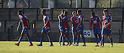 Palace celebrate taking the lead during the Final Third Development League match between U21 Crystal Palace and U21 Coventry City at Selhurst Park, London, England on 12 October 2015. Photo by Michael Hulf.