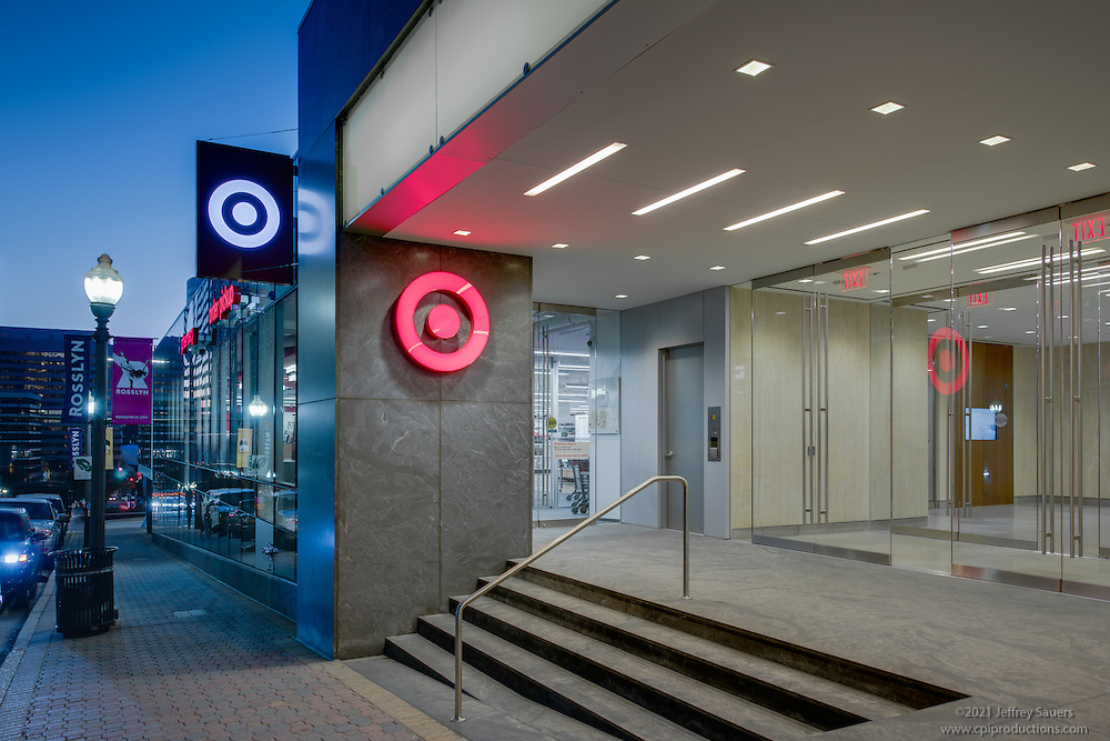 Architectural Image of Target Store in Arlington Virgina by Jeffrey Sauers of Commercial Photographics, Architectural Photo Artistry in Washington DC, Virginia to Florida and PA to New England
