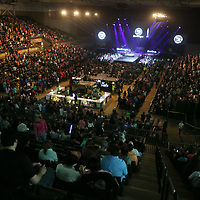 Thousands of area residents fill up the BancorpSouth Arena in Tupelo Thursday night for the 2018 Winter Jam concert.