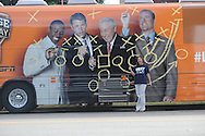 Aaron Craig next to the ESPN's College Gameday bus, in the Grove at the University of Mississippi in Oxford, Miss. on Friday, October 3, 2014.  Mississippi plays host to Alabama on Saturday.