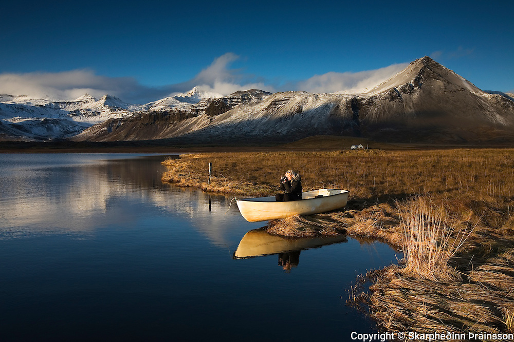 Calm autumn day at Snæfellsnes, west Iceland