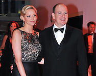 """PRINCESS CHARLENE AND PRINCE ALBERT.attend the Monaco Formula One Grand Prix Gala Dinner at Sporting Monaco, Monte Carlo_May 27, 2012.Mandatory Credit Photos: ©NEWSPIX INTERNATIONAL..**ALL FEES PAYABLE TO: """"NEWSPIX INTERNATIONAL""""**..PHOTO CREDIT MANDATORY!!: NEWSPIX INTERNATIONAL(Failure to credit will incur a surcharge of 100% of reproduction fees)..IMMEDIATE CONFIRMATION OF USAGE REQUIRED:.Newspix International, 31 Chinnery Hill, Bishop's Stortford, ENGLAND CM23 3PS.Tel:+441279 324672  ; Fax: +441279656877.Mobile:  0777568 1153.e-mail: info@newspixinternational.co.uk"""
