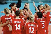 HALLE 16/01/2008.EUROPEAN VOLLEYBALL WOMEN'S OLIMPIC QUALIFICATION.POLAND _ GERMANY.RADOSC POLSKIEJ DRUZYNY PO KONCOWYM GWIZDKU.FOT. PIOTR HAWALEJ / WROFOTO