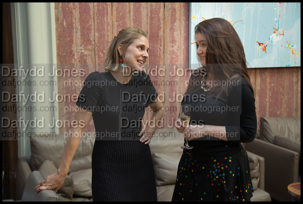 KRISTINA MCLEAN; ZOE APPLEYARD, Drinks party to launch this year's Frieze Masters.Hosted by Charles Saumarez Smith and Victoria Siddall<br />  Academicians' room - The Keepers House. Royal Academy. Piccadilly. London. 3 July 2014