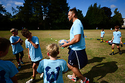 Jack Lam at the Bristol Bears Community Foundation Summer Holiday Camp at Old Bristolians RFC - Mandatory by-line: Dougie Allward/JMP - 15/08/2018 - Rugby