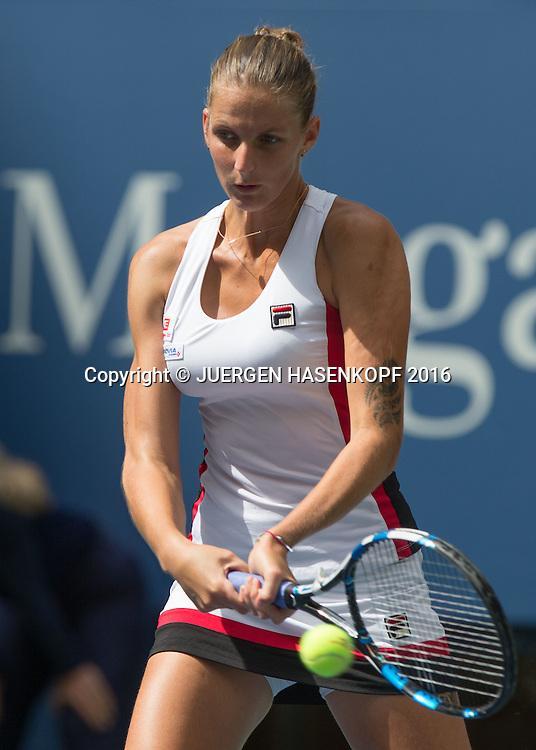 KAROLINA PLISKOVA (CZE)<br /> <br /> <br /> Tennis - US Open 2016 - Grand Slam ITF / ATP / WTA -  USTA Billie Jean King National Tennis Center - New York - New York - USA  - 5 September 2016.