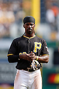 PITTSBURGH, PA - AUGUST 16: Andrew McCutchen #22 of the Pittsburgh Pirates looks on against the Los Angeles Dodgers during the game at PNC Park on August 16, 2012 in Pittsburgh, Pennsylvania. The Pirates won 10-6. (Photo by Joe Robbins) *** Local Caption *** Andrew McCutchen