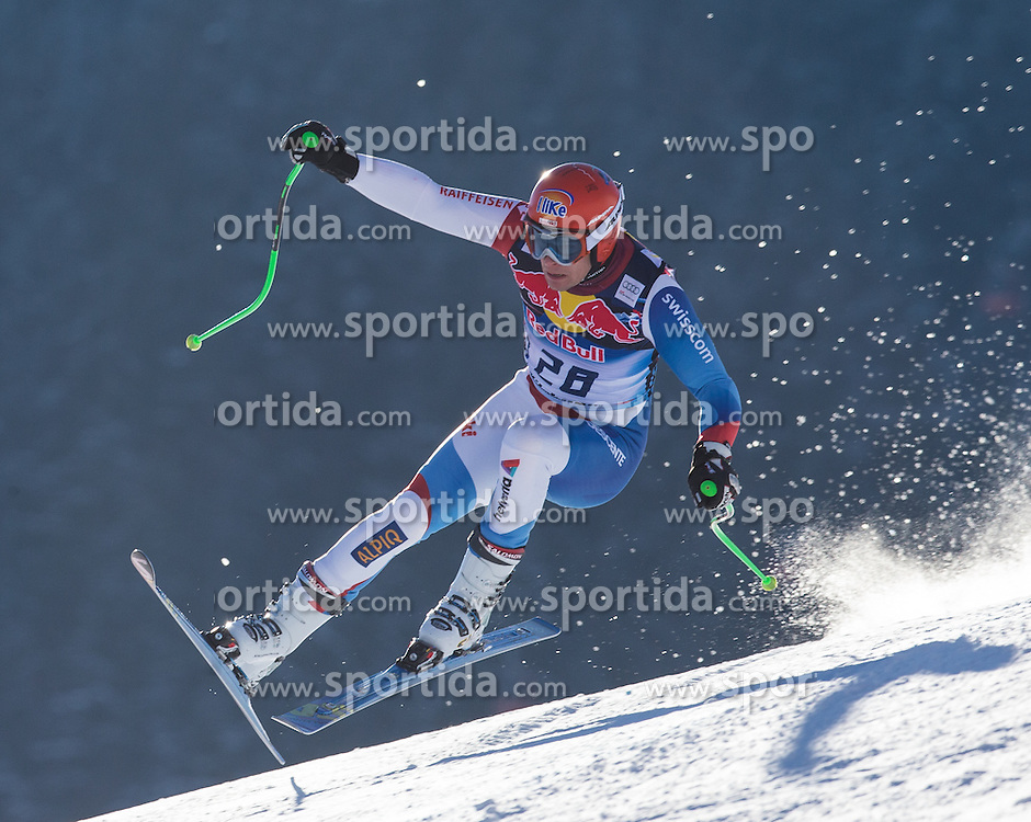 23.01.2013, Streif, Kitzbuehel, AUT, FIS Weltcup Ski Alpin, Abfahrt, Herren, 2. Training, im Bild Patrick Kueng (SUI) // Patrick Kueng of Switzerland in action during 2nd practice of mens Downhill of the FIS Ski Alpine World Cup at the Streif course, Kitzbuehel, Austria on 2013/01/23. EXPA Pictures © 2013, PhotoCredit: EXPA/ Johann Groder