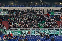 03.02.2018, Veltins Arena, Gelsenkirchen, GER, 1. FBL, Schalke 04 vs SV Werder Bremen, 21. Runde, im Bild der Gästeblock // during the German Bundesliga 21th round match between Schalke 04 and SV Werder Bremen at the Veltins Arena in Gelsenkirchen, Germany on 2018/02/03. EXPA Pictures © 2018, PhotoCredit: EXPA/ Andreas Gumz<br /> <br /> *****ATTENTION - OUT of GER*****