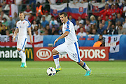 Slovakia Midfielder Viktor Pecovsky during the Euro 2016 Group B match between Slovakia and England at Stade Geoffroy Guichard, Saint-Etienne, France on 20 June 2016. Photo by Phil Duncan.