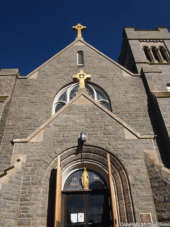06 Oct. 2015 Cape May USA / Front facade of Our Lady Star of the Sea Roman Catholic Church  / © 2015 Michael Glenn/Glenn Images
