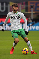 January 19, 2019 - Milan, Milan, Italy - Manuel Locatelli #73 of US Sassuolo in action during the serie A match between FC Internazionale and US Sassuolo at Stadio Giuseppe Meazza on January 19, 2019 in Milan, Italy. (Credit Image: © Giuseppe Cottini/NurPhoto via ZUMA Press)