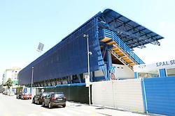 SEQUESTRO DA PARTE DELLA GUARDIA FI FINANZA DELLA CURVA OVEST DELLO STADIO PAOLO MAZZA DI FERRARA