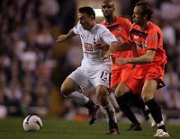 Photo: Paul Thomas.<br /> Tottenham Hotspur v Sevilla. UEFA Cup. Quarter Final, 2nd Leg. 12/04/2007.<br /> <br /> Steed Malbranque (L) of Spurs on the attack.