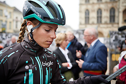 Maria Vittoria Sperotto (ITA) makes her way to sign on at Ronde van Vlaanderen - Elite Women 2019, a 159.2 km road race starting and finishing in Oudenaarde, Belgium on April 7, 2019. Photo by Sean Robinson/velofocus.com