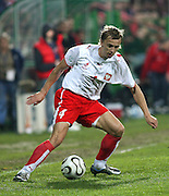 BELCHATOW 02/05/2006..POLAND v LITHUANIA INTERNATIONAL FRIENDLY..POLAND'S MARCIN BASZCZYNSKI..FOT. PIOTR HAWALEJ / WROFOTO..