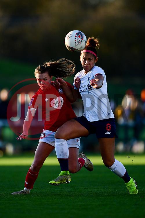 Charlie Wellings of Bristol City is marked by Sophie Bradley-Auckland of Liverpool Women - Mandatory by-line: Ryan Hiscott/JMP - 19/01/2020 - FOOTBALL - Stoke Gifford Stadium - Bristol, England - Bristol City Women v Liverpool Women - Barclays FA Women's Super League