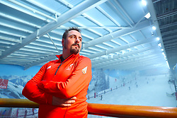 ParalympicsGB snowboarder Ben Moore during the ParalympicsGB 2018 Winter Olympics Alpine Skiing and Snowboard team announcement, at The Snowcentre, Hemel Hempstead.