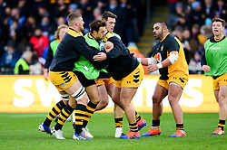 Wasps warm up prior to the game - Mandatory by-line: Dougie Allward/JMP - 30/11/2019 - RUGBY - Sandy Park - Exeter, England - Exeter Chiefs v Wasps - Gallagher Premiership Rugby