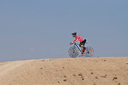 Cyclist statue in the Negev Desert, Israel