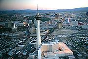 The Stratospere Las Vegas NevadaNight helicopter flight, Las Vegas, Nevada