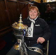 Alanna Birse gets her hands on the trophy - Dundee FC civic reception at Dundee City Chambers<br /> <br />  - &copy; David Young - www.davidyoungphoto.co.uk - email: davidyoungphoto@gmail.com