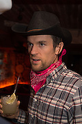 DUNCAN STIRLING, The launch of Beaver Lodge in Chelsea, a cabin bar and dance saloon, 266 Fulham Rd. London. 4 December 2014