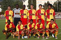 Fotball<br /> Frankrike 2004/2005<br /> Foto: Dppi/Digitalsport<br /> NORWAY ONLY<br /> <br /> FRIENDLY GAMES<br /> FRC LENS v CLETA VIGO<br /> 30/07/2004<br /> <br /> TEAM LENS (BACK ROW LEFT TO RIGHT : JEROME LEROY / CHARLES ITANDJE / ALOU DIARRA / NICOLAS GILLET / JACEK BAK / CHARLES EDOUARD CORIDON . FRONT ROW : JOHN UTAKA / ERIC CARRIERE /SEYDOU KEITA / BENOIT ASSOU EKOTTO / ERIC CUBILIER )