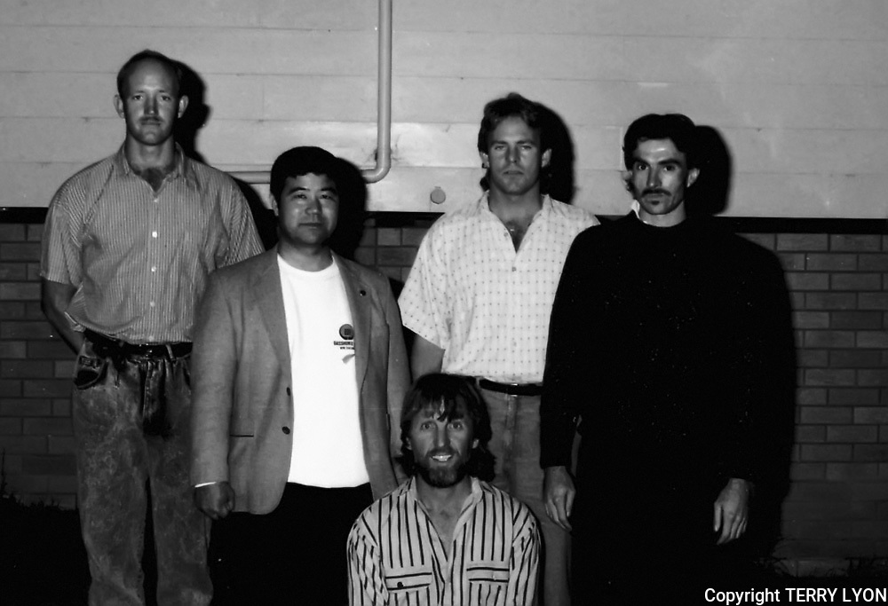 Photographs taken from 1985 to 2009 at various Dojo of Sensei Terry Lyon 5th Dan, Training sessions, Gasshuku with Sensei Graham Ravey 7th Dan,Sensei Morio Higaonna 10th Dan, Cottesloe Dojo.