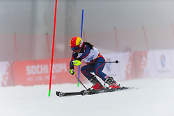 ETHERINGTON Jade Guide: POWELL Caroline competing in the Alpine Skiing Super Combined Slalom at the 2014 Sochi Winter Paralympic Games, Russia