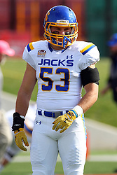 29 October 2016:  Dalton Cox.  NCAA FCS Football game between South Dakota State Jackrabbits and Illinois State Redbirds at Hancock Stadium in Normal IL (Photo by Alan Look)