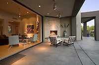 Patio of a modern residence
