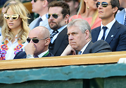 Image licensed to i-Images Picture Agency. 04/07/2014. London, United Kingdom.  Suki Waterhouse  and Bradley Cooper  in the Royal box  on day eleven of the Wimbledon Tennis Championships . Picture by i-Images