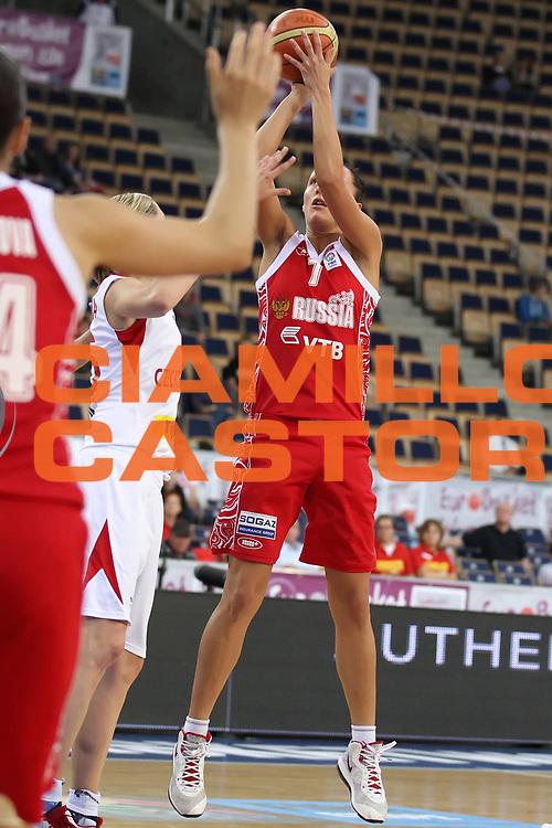 DESCRIZIONE : Lodz Poland Polonia Eurobasket Women 2011 Semifinal Round Repubblica Ceca Russia Czech Republic Russia<br /> GIOCATORE : Marina Kuzina<br /> SQUADRA : Russia<br /> EVENTO : Eurobasket Women 2011 Campionati Europei Donne 2011<br /> GARA : Repubblica Ceca Russia Czech Republic Russia<br /> DATA : 01/07/2011<br /> CATEGORIA : <br /> SPORT : Pallacanestro <br /> AUTORE : Agenzia Ciamillo-Castoria/E.Castoria<br /> Galleria : Eurobasket Women 2011<br /> Fotonotizia : Lodz Poland Polonia Eurobasket Women 2011 Semifinal Round Repubblica Ceca Russia Czech Republic Russia<br /> Predefinita :