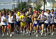 Runners start the 10th Annual Holy Redeemer 5K Nun Run & Fun Walk, Saturday, June 1, 2002, in Avalon, N.J. The Nun Run is held to raise money for the Holy Redeemer Health System Hospice programs. (Photo by William Thomas Cain/photodx.com)
