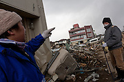 Survivors looking for personal possessions after the tsunami in Ofunato, Iwate, Japan. March 17th 2011