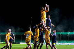Theo Vukasinovic of Wasps A wins the ball at a line out - Mandatory by-line: Robbie Stephenson/JMP - 16/12/2019 - RUGBY - Sixways Stadium - Worcester, England - Worcester Cavaliers v Wasps A - Premiership Rugby Shield