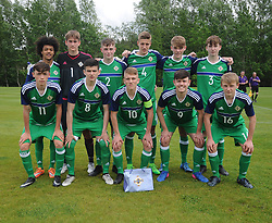 Northern IrelandU who lined out against the Republic of Ireland at the U16 Uefa development tournament United Park Westport.<br /> Pic Conor McKeown
