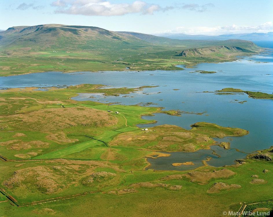 Arnarbæli séð til austurs, Dalabyggð áður Fellsstrandarhreppur / Arnarbaeli viewing east, Dalabyggd former Fellsstrandarhreppur.
