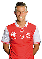Remi Oudin of Reims during the photocall of Reims for new season of Ligue 2 on September 29th 2016 in Reims<br /> Photo : Stade de Reims / Icon Sport