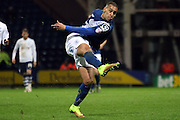Birmingham City James Vaughan during the Sky Bet Championship match between Preston North End and Birmingham City at Deepdale, Preston, England on 15 December 2015. Photo by Pete Burns.